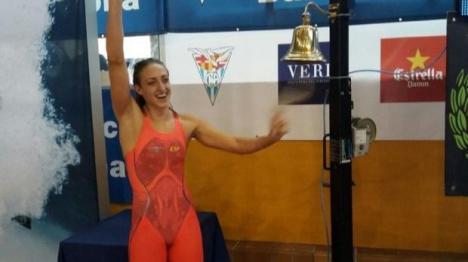 Lidón Muñoz bate el récord español de 50 metros libre