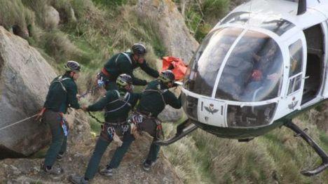 El Servicio de Montaña de la Guardia Civil realizó 950 intervenciones durante 2016 en las que se rescató a 101 fallecidos y se socorrió a 562 heridos y 771 ilesos