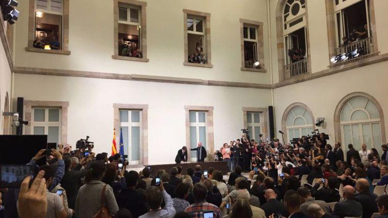 Esta es la declaración de independencia de Cataluña que han firmado los partidos soberanistas