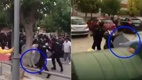 Detenido un joven de 22 años por propinar una patada en la cabeza a un guardia civil el 1-O