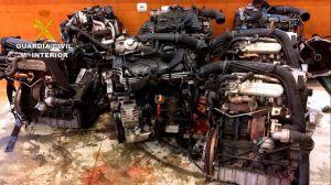 Robaban coches en Madrid y Toledo y los almacenaban en Ávila para venderlos por piezas