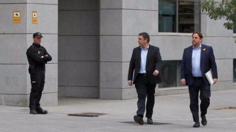 Junqueras y otros siete 'exconsellers' de la Generalitat entran en prisión