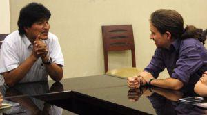 La cúpula de Podemos se reúne con Evo Morales