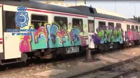 La Policía Nacional detiene en Valencia y Barcelona a 11 grafiteros