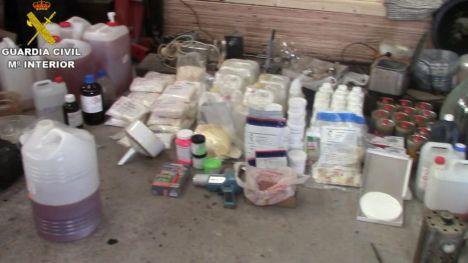 Desarticulada una organización dedicada a la elaboración y tráfico de drogas