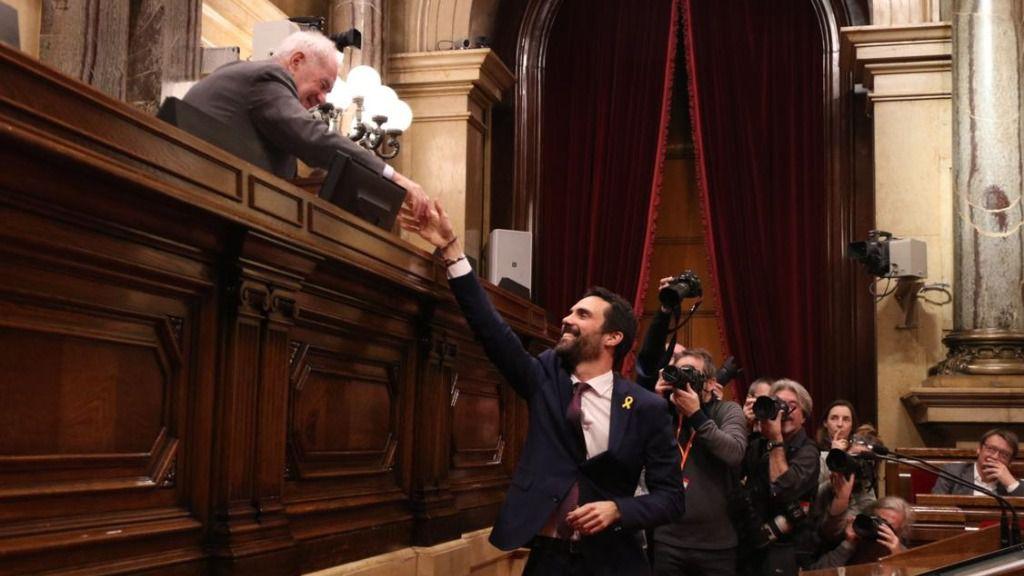 Puigdemont podría estar presionando a Roger Torrent para que lo invista
