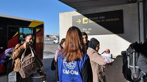 Llegan a España 17 refugiados eritreos procedentes de Italia