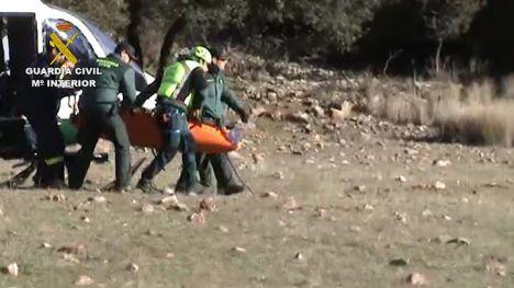 La Guardia Civil rescata a una persona en el paraje del Estrecho de las Hoces del río Guadiana