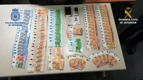 Detenidas tres personas en Alicante y Barcelona que introducían en nuestro país billetes falsos procedentes de Italia