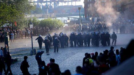 Registros en Madrid para esclarecer la participación de radicales en los disturbios de la cumbre del G-20 en Hamburgo