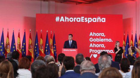 Sánchez considera que sólo el PSOE tiene 'un programa para guiar a nuestro país hacia el progreso con moderación'