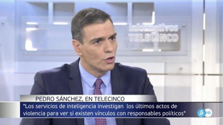 Sánchez promete esclarecer la vinculación entre responsables políticos y plataformas vandálicas en Cataluña