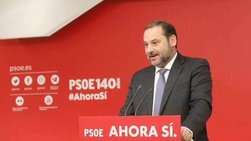 Ábalos advierte que el PSOE 'no pactará ningún gobierno' con el PP