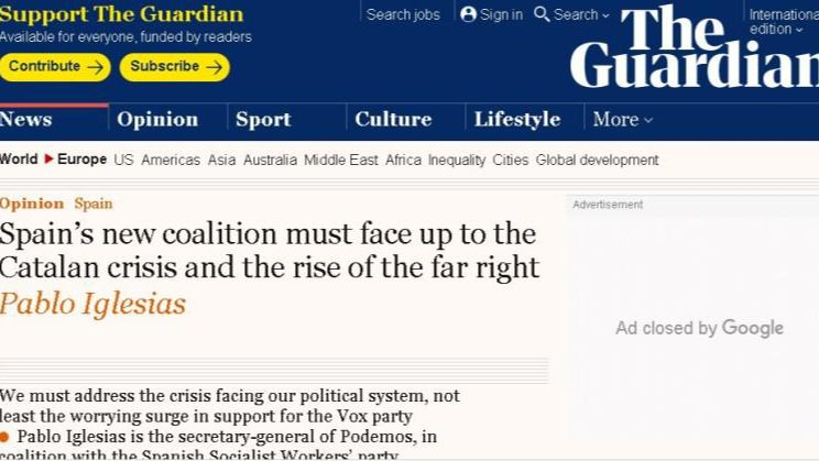 Iglesias acusa a Sánchez de haber engordado a Vox por cálculo electoral