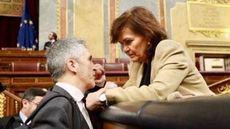 Marlaska califica de 'indigno' a Ortega Smith por ignorar a una víctima de malos tratos