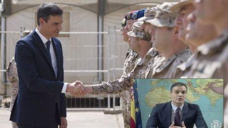 """Sánchez agradece a las Fuerzas Armadas que España haya vivido """"el período de paz más prolongado de su historia"""""""