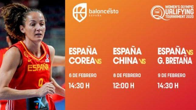 Confirmados los horarios de los partidos de España en el Preolímpico de Belgrado