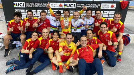 La Selección Española de Ciclismo Adaptado en Pista cierra el Mundial con 10 medallas