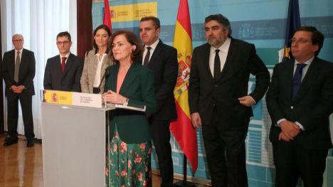 Calvo destaca la 'lealtad institucional' del PP al acudir a la toma de posesión de Franco