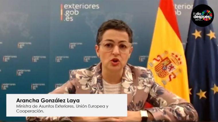 González Laya: 'Lo importante no es descubrir una vacuna, sino que llegue a todos'