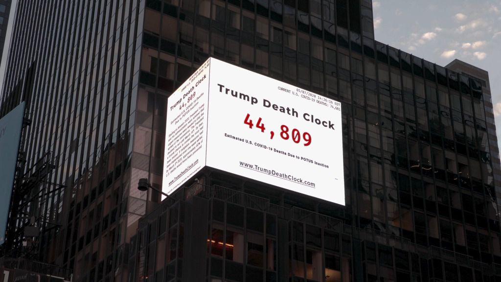 Donald Trump y 'el reloj de las muertes' que han provocado su 'inacción'