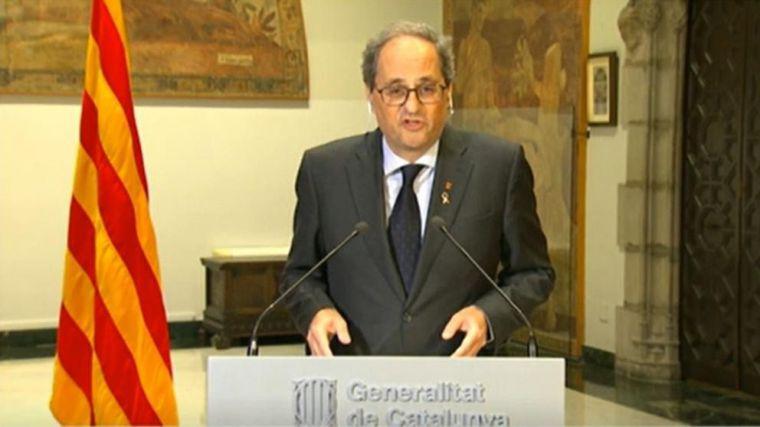 Torra avisa de que Junts y ERC no apoyarán otra prórroga del estado de alarma si Cataluña no recobra sus competencias