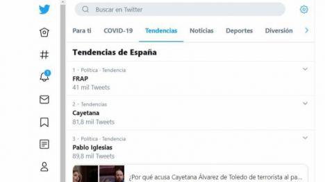 Álvarez de Toledo revive el FRAP como primer 'trending topic' en España