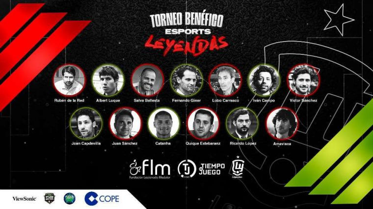 Las leyendas de la selección española organizan un torneo de e-Sports a beneficio de personas con lesión medular