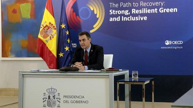 Sánchez defiende una recuperación 'fuerte, resiliente y verde, que no deje a nadie atrás'