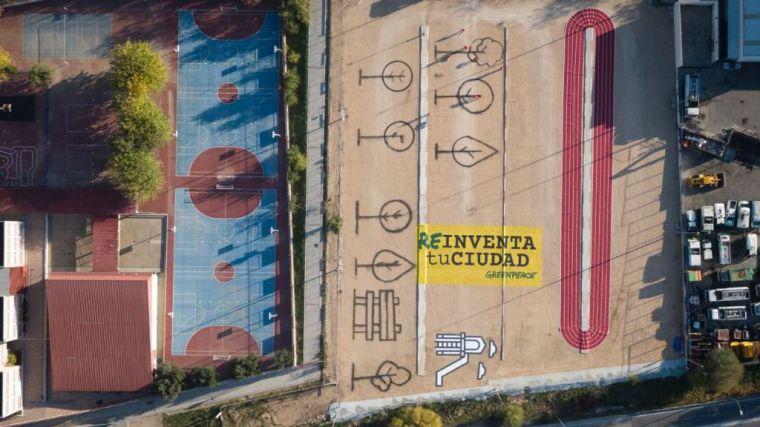 Acción de Greenpeace por el Día Mundial de las Ciudades