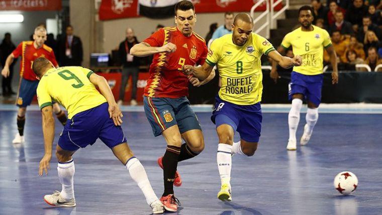 Fútbol sala: España-Brasil