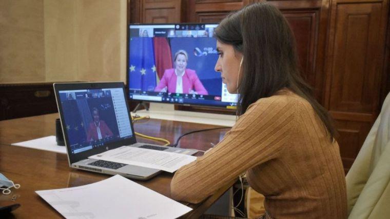 Irene Montero celebra el servicio de asistencia a víctimas de violencia de género en Europa