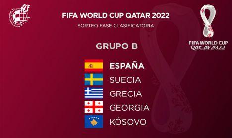 Suecia, Grecia, Georgia y Kosovo serán los rivales de España en la fase de clasificación al Mundial de Catar 2022