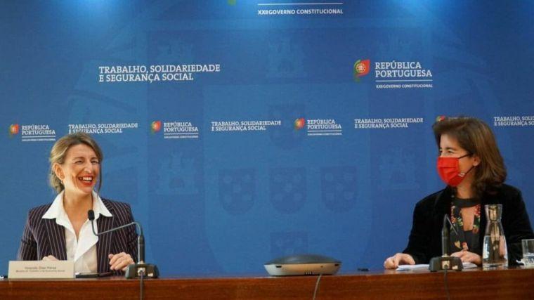 Yolanda Díaz y su homóloga portuguesa refuerzan el diálogo social y la cooperación transfronteriza
