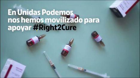 Unidas Podemos lanza una campaña de apoyo a la Iniciativa Ciudadana Europea #Right2Cure