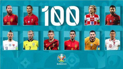 Jugadores centenarios a 100 días de la UEFA EURO 2020