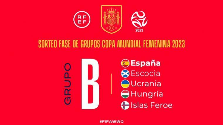 Escocia, Ucrania, Hungría e Islas Feroe serán los rivales de España en la fase de clasificación para el Mundial Femenino