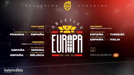 Selección Femenina: Seis partidos de preparación rumbo al Eurobasket 2021
