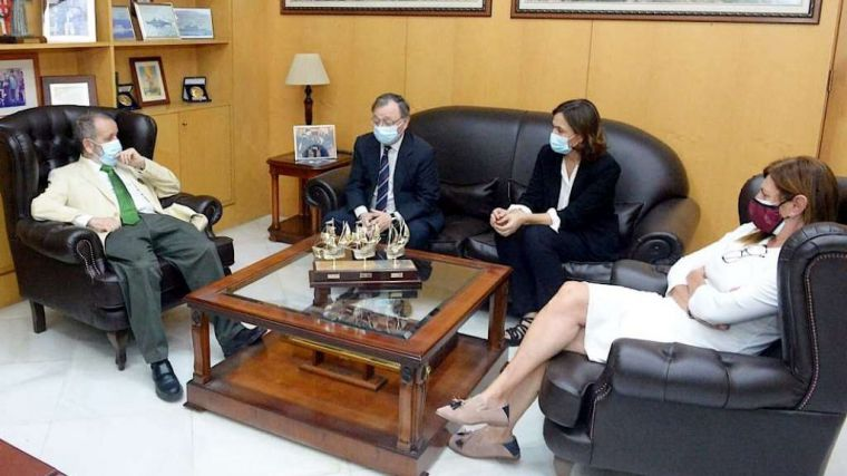 El presidente de la Ciudad y la delegada del Gobierno de Ceuta reciben al Defensor del Pueblo