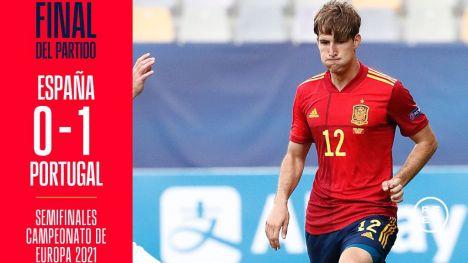 España cae con honores ante Portugal (0-1)