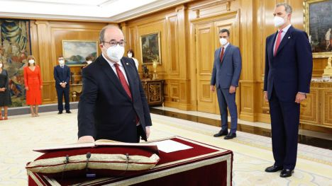 Miquel Iceta toma posesión como ministro de Cultura y Deporte