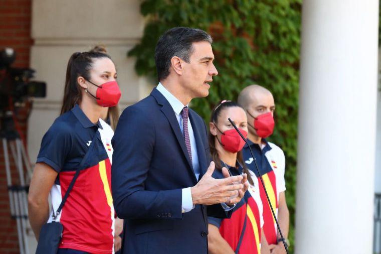 Las Guerreras son recibidas por Pedro Sánchez en Moncloa antes de viajar a Tokio