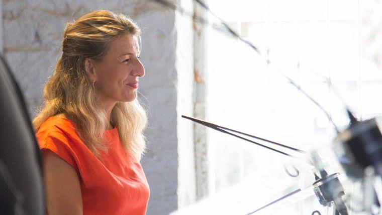 Yolanda Díaz anuncia que Alicante albergará la reunión de ministros de Trabajo en el Foro del Mediterráneo Occidental