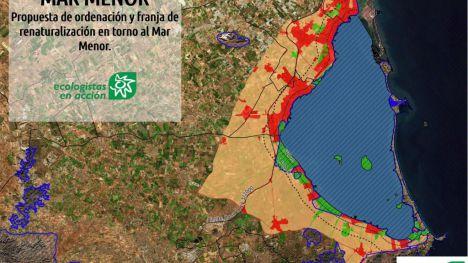 Ecologistas en Acción propone la creación de una franja renaturalizada en el Mar Menor