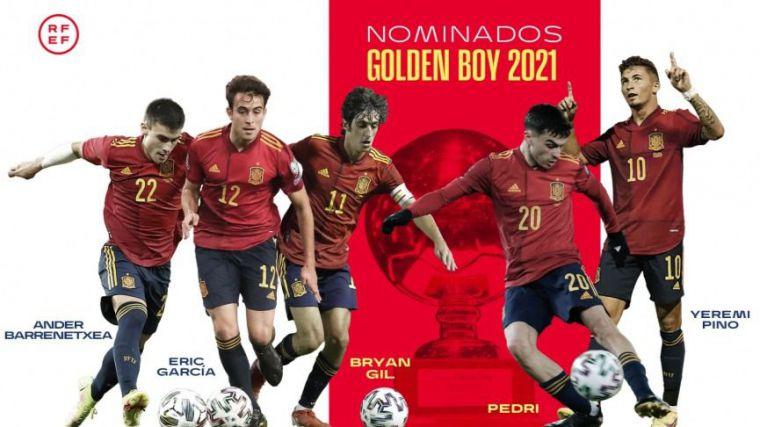 Amplia representación de jugadores españoles entre los cuarenta finalistas al Golden Boy
