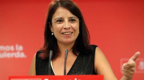 """Adriana Lastra: """"El CIS refleja que el PSOE está en cabeza"""" y que """"es la única posibilidad de voto progresista para enfrentarse a la derecha"""""""
