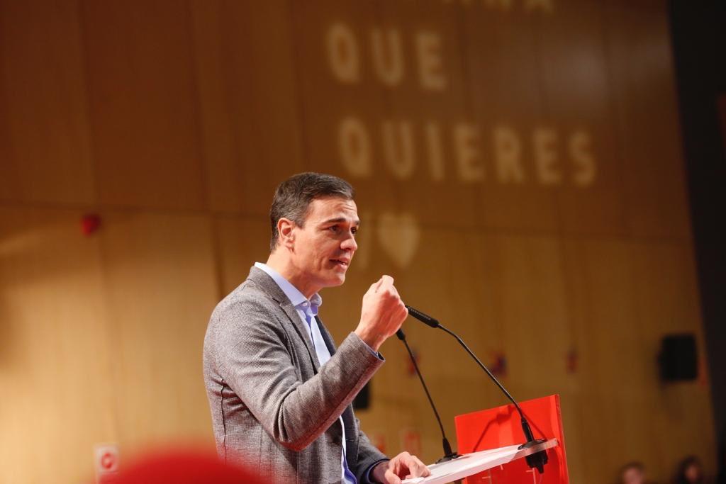"""Sánchez: """"Cada voto que vaya al PSOE será un voto a favor de la estabilidad"""""""