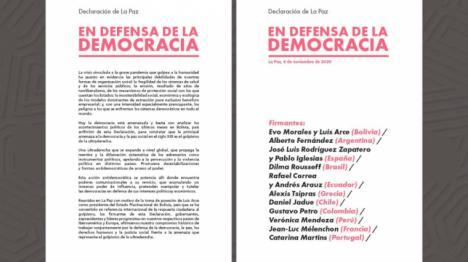 Declaración conjunta de dirigentes y exmandatarios iberoamericanos contra la ultraderecha