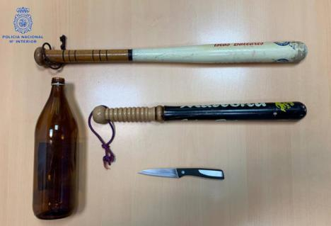 Seis detenidos tras una pelea con bates de béisbol por la ruptura de una pareja en Palma