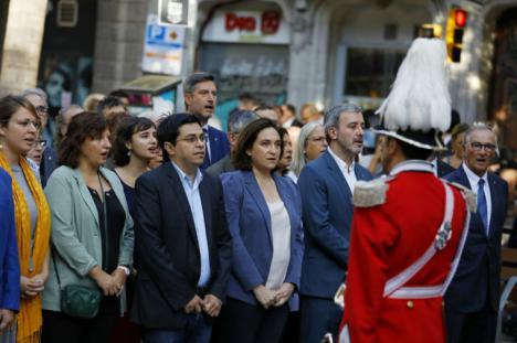 Ada Colau y Pablo Iglesias protagonistas de la Diada